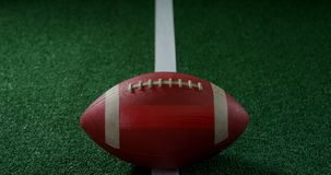 American football on line 4k. Close-up of American football on line 4k stock footage