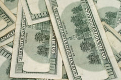Close Up American Hundred Dollar Bills Royalty Free Stock Photos