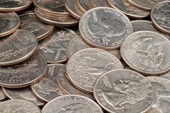 Close Up Of American Quarters. A close up image of American quarters Royalty Free Stock Image