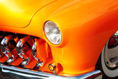 Close-up of American Vintage Car, Front Detail Royalty Free Stock Image