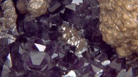Amethyst Close Up. Close up of an amethyst stock video footage