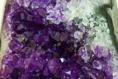 Close up Amethyst crystal a semiprecious gem Royalty Free Stock Photography