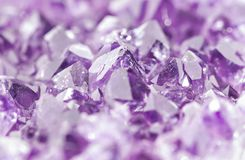 Amethyst geode Royalty Free Stock Images