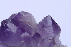 Close up of amethyst. Close up of mineral : purple amethyst crystal stock image