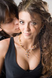 Close-up of amorous young couple Royalty Free Stock Photography