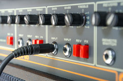 Close up of amplifier Stock Images