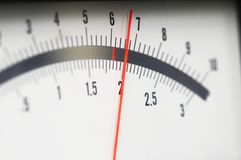Close-up of analog indicator Royalty Free Stock Photography