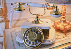 Close Up Analogue base handset Phone Royalty Free Stock Photos
