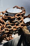 Close up of anchor chain Stock Photo