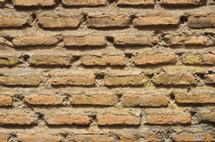 Close-up of the ancient brickwall Stock Photos
