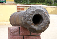 Close up of an ancient canon at the Tipu's palace Stock Photo
