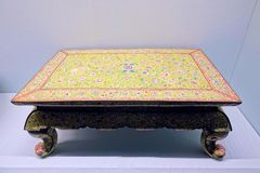 Ancient Chinese lacquer table royalty free stock image