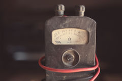 Close-up of an ancient ohmmeter Stock Image
