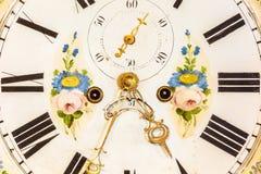 Close up of an ancient ornamental clock Stock Photos