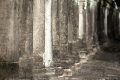 Close up of ancient stone pillars Royalty Free Stock Photo