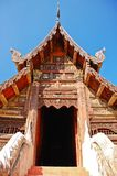 Close up of ancient temple in Chaingmai, Thailand Royalty Free Stock Photo
