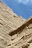 Ancient walls in the Karnak Temple, Luxor, Egypt. Close-up of ancient wall in the Karnak Temple, Luxor, Egypt stock images