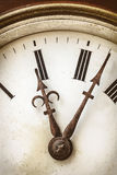 Close up of an ancient weathered clock Royalty Free Stock Photo