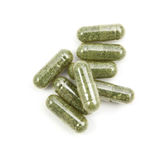 Close up andrographis paniculata herbal antipyretic capsules Stock Photography