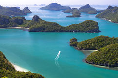 Close up of Ang Thong National Marine Park, Thailand Stock Images