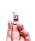 Close up of angry man scold his children. Photo concept for layout design Royalty Free Stock Photos
