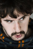 Close up of angry young man Royalty Free Stock Image