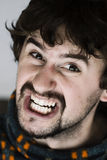 Close up of angry young man Royalty Free Stock Photos