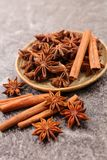 Anise and cinnamon stock photos