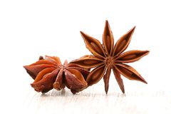 Anise star spice royalty free stock image
