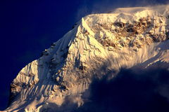 Close-up of Annapurna South with high contrast Stock Image