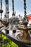 Close-up of an antique bell, Mount Abu, Sirohi District, Rajasth Stock Image