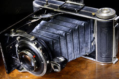 Close up of antique bellows camera Stock Photo