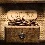 Close up of Antique coffee grinder Stock Image