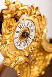 Close-up of antique gold clock Royalty Free Stock Image