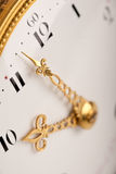 Close-up of antique gold clock Stock Images