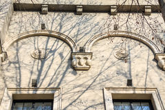 Close Up Antique Style Decorations On Facade Royalty Free Stock Photos
