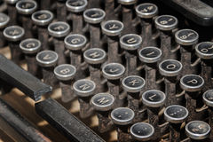 close up antique typewriter Stock Photos