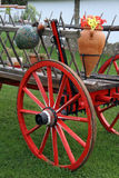 Close-up Antique Wagon Wheel Stock Images
