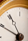 Close-up of antique white and gold clock Stock Photography