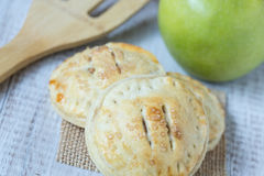 Close Up Apple Hand Pies And Spatula Stock Photography
