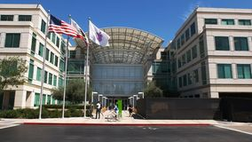 Close up of apple inc headquarters in cupertino. Close up view of apple inc headquarters in cupertino, california stock video