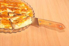 Close up of a  apple pie Royalty Free Stock Photos