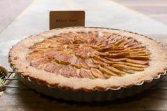 Close up apple tart dessert Royalty Free Stock Images