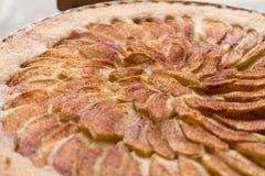 Close up apple tart dessert Royalty Free Stock Image