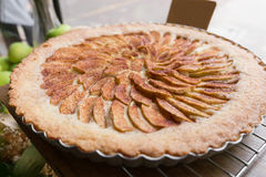 Close up apple tart dessert Stock Image