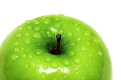 Close-up of an apple and water Stock Photo