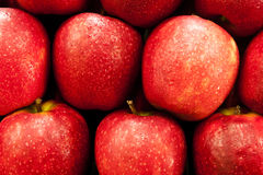 Red apples in a fruit shop Stock Photo