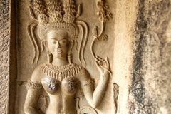 Close up of Apsara royalty free stock image