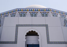 Close up of Arabic Architecture. Islamic architecture. Royalty Free Stock Photo