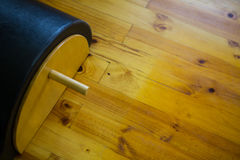 Close-up of arc barrel. On wooden floor Stock Image
